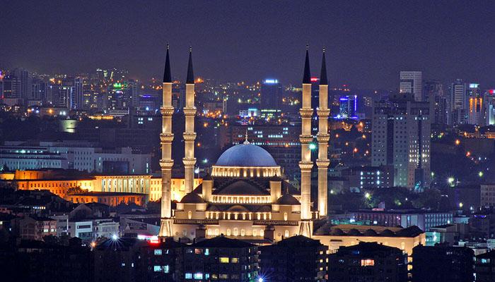 مسجد کوجاتپه آنکارا ( kocatepe mosque Ankara )