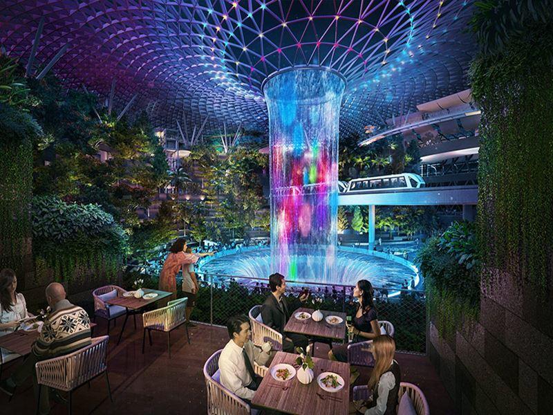 بزرگترین آبشار سرپوشیدهی دنیا در فرودگاه سنگاپور