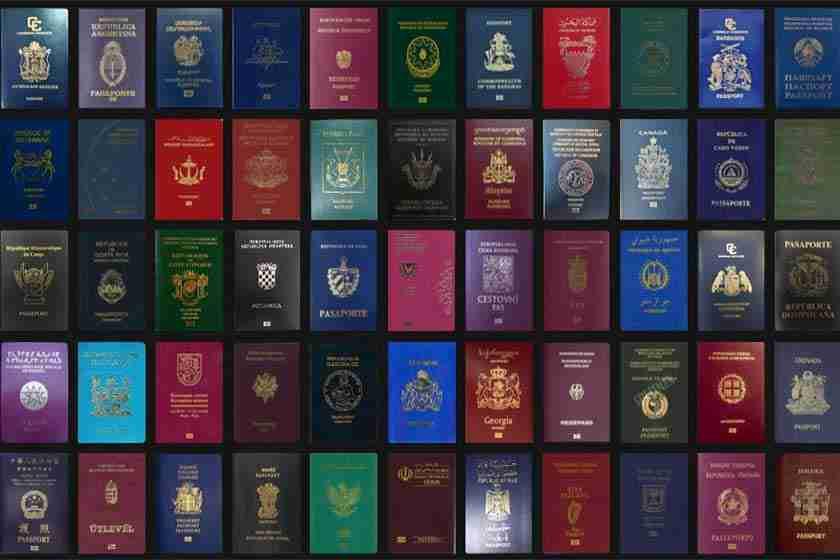 رنگ جلد پاسپورت کشورهای مختلف