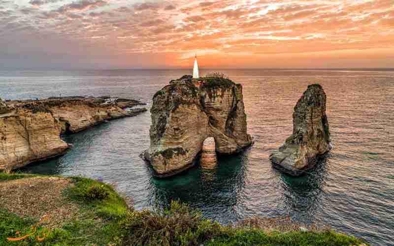 صخره های روشه بیروت بهترین جاذبه گردشگری لبنان